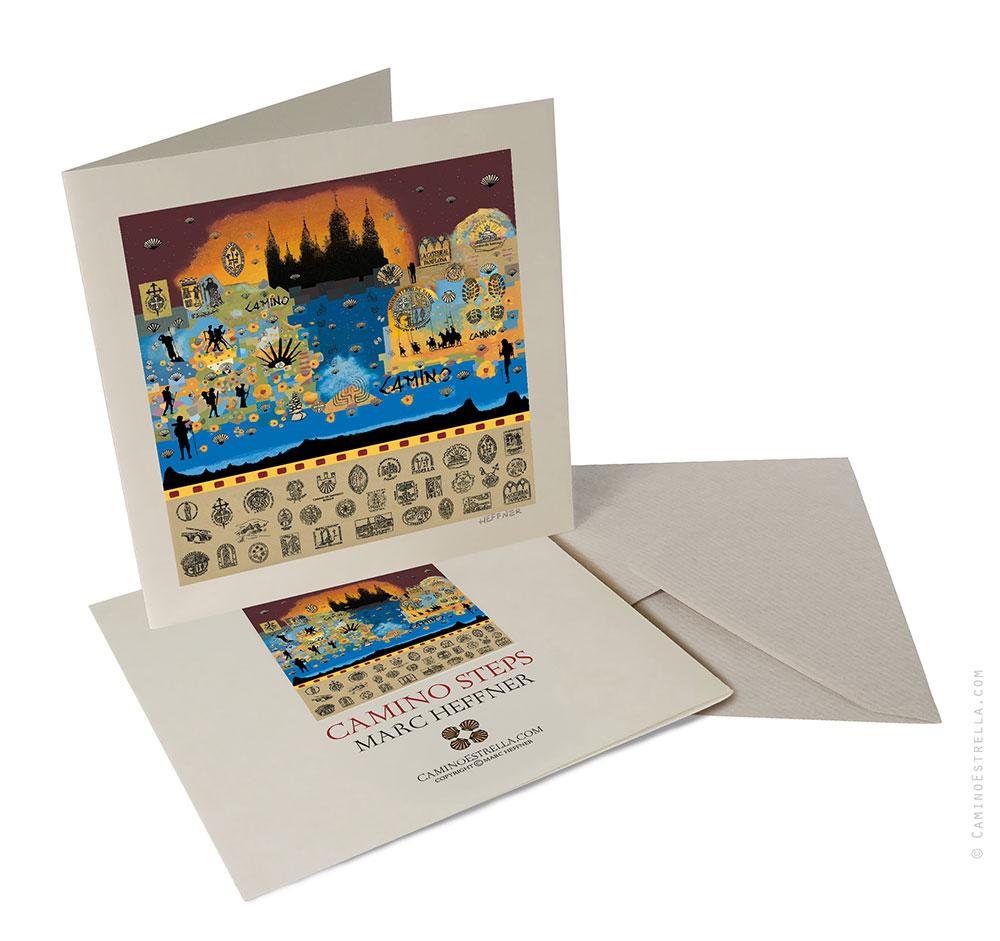 El Camino de Santiago Compostela pilgrimage greeting card